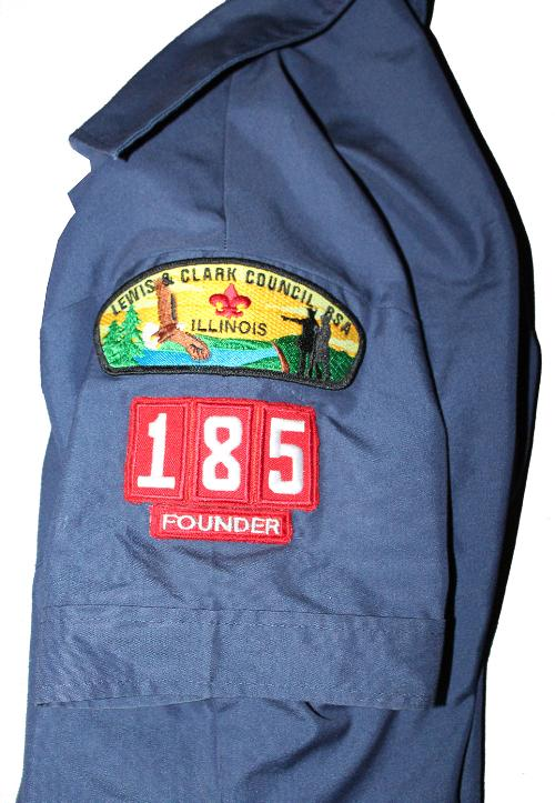 Webelos Den Leader Uniform Patch Placement